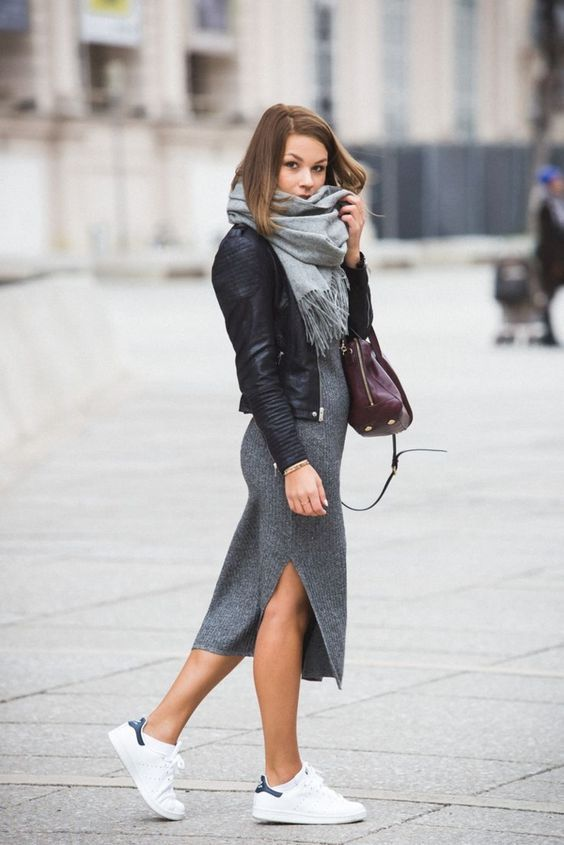 Blouson cuir style chanel