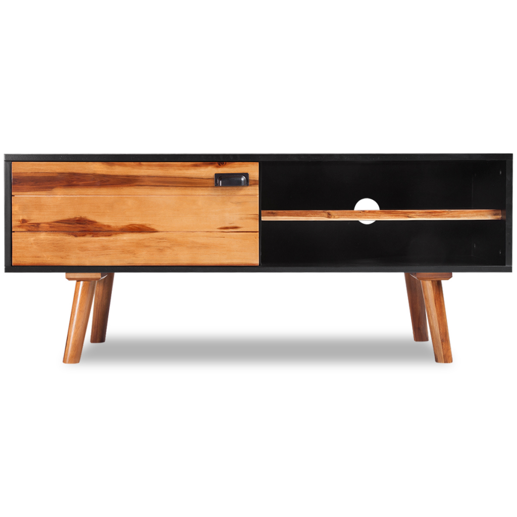 Expertly Crafted From Solid Acacia Wood And High Quality Mdf The Tv Cabinet Is Very Sturdy And Durable Its Elegant Tv Stand Wood Led Tv Stand Wood Tv Cabinet