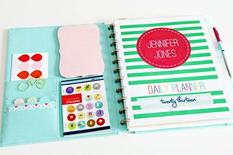 Beautiful daily planner using Martha Stewart Discbound notebook