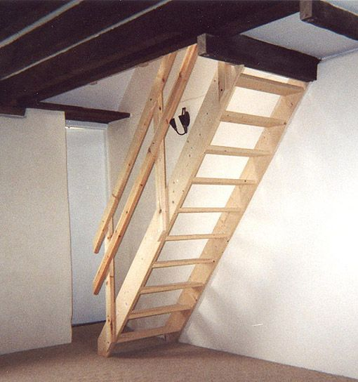 Space Saver Staircases   Cottage Space Saver Staircase Kit From Staircase  Kits