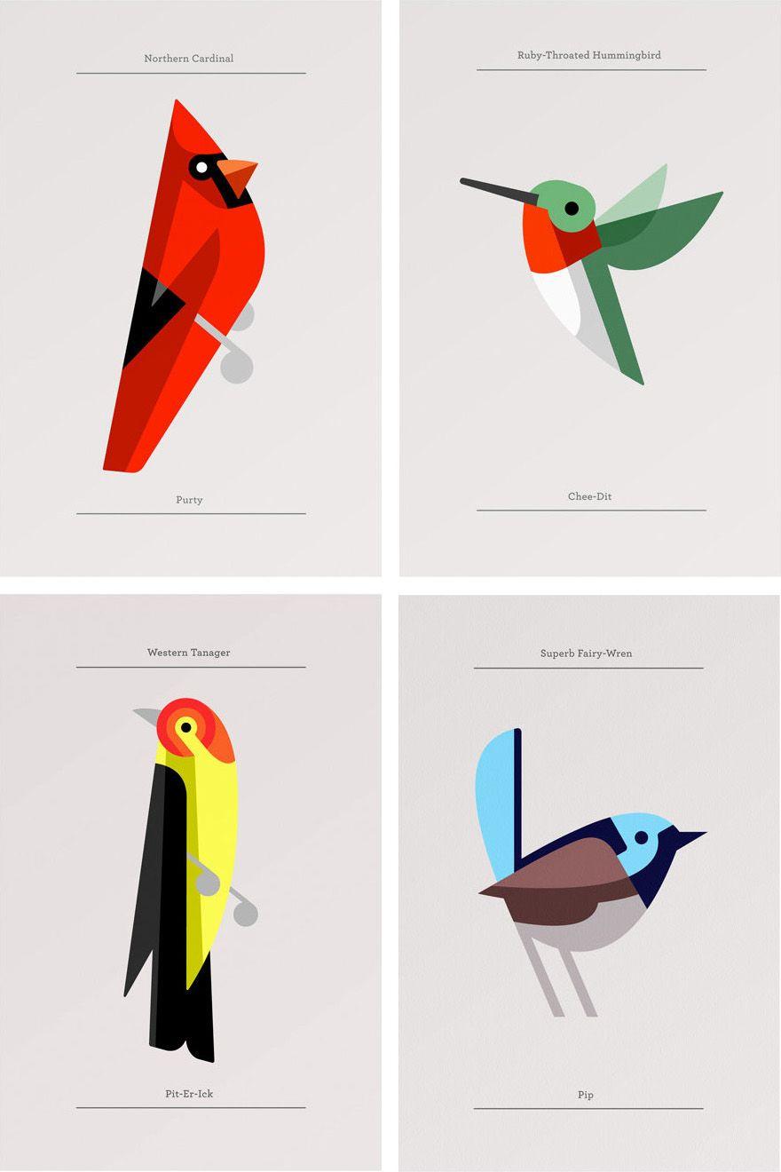 josh brill / lumadessa | 鳥 | pinterest | 鳥、年賀状、イラスト 鳥