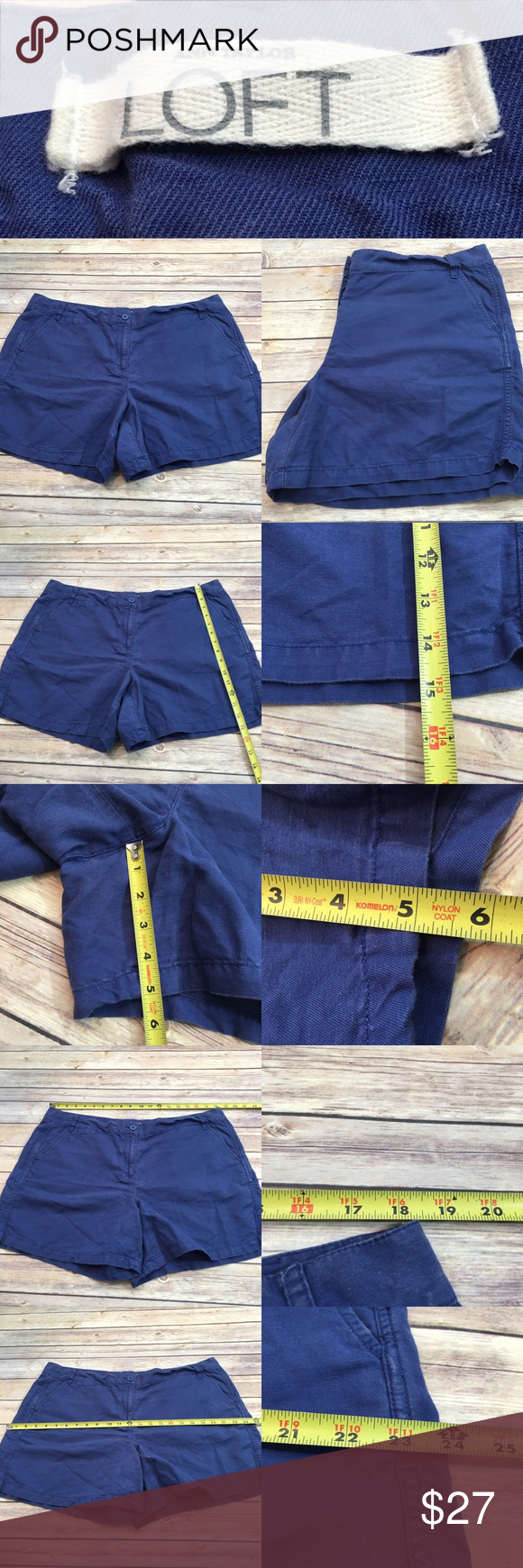 👄Sz 16 LOFT Blue Linen Blend Above Knee Shorts Measurements are in photos. Normal wash wear, no flaws. A3/23  I do not comment to my buyers after purchases, do to their privacy. If you would like any reassurance after your purchase that I did receive your order, please feel free to comment on the listing and I will promptly respond. I ship everyday and I always package safely. Thanks! LOFT Shorts