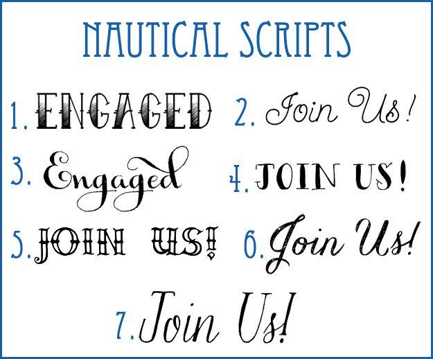 nautical fonts