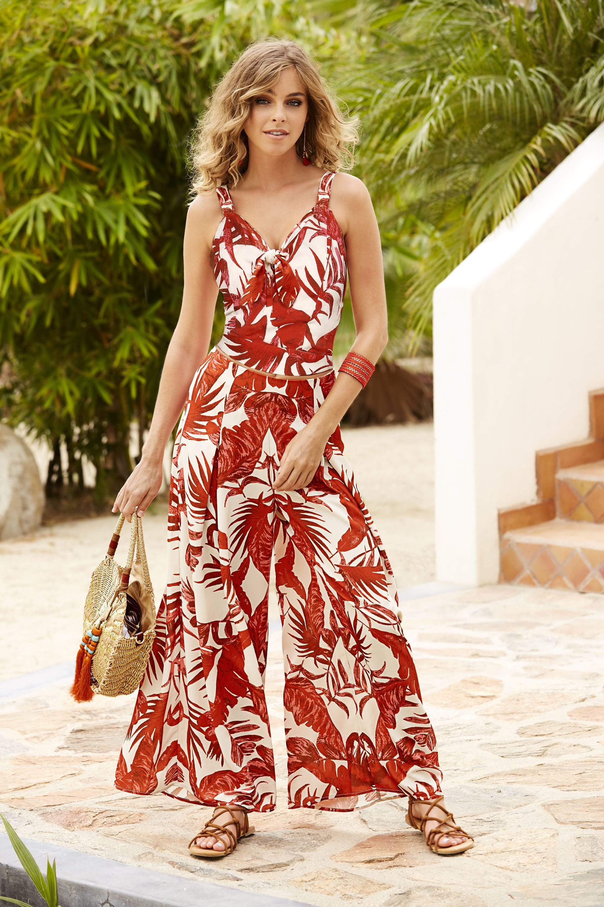 Women s Tropical Fern Palazzo Pant by Boston Proper. Inspired by the most  sensuous color in the spectrum in look-at-me showstoppers that refuse to be  ... 8cc0d3be0