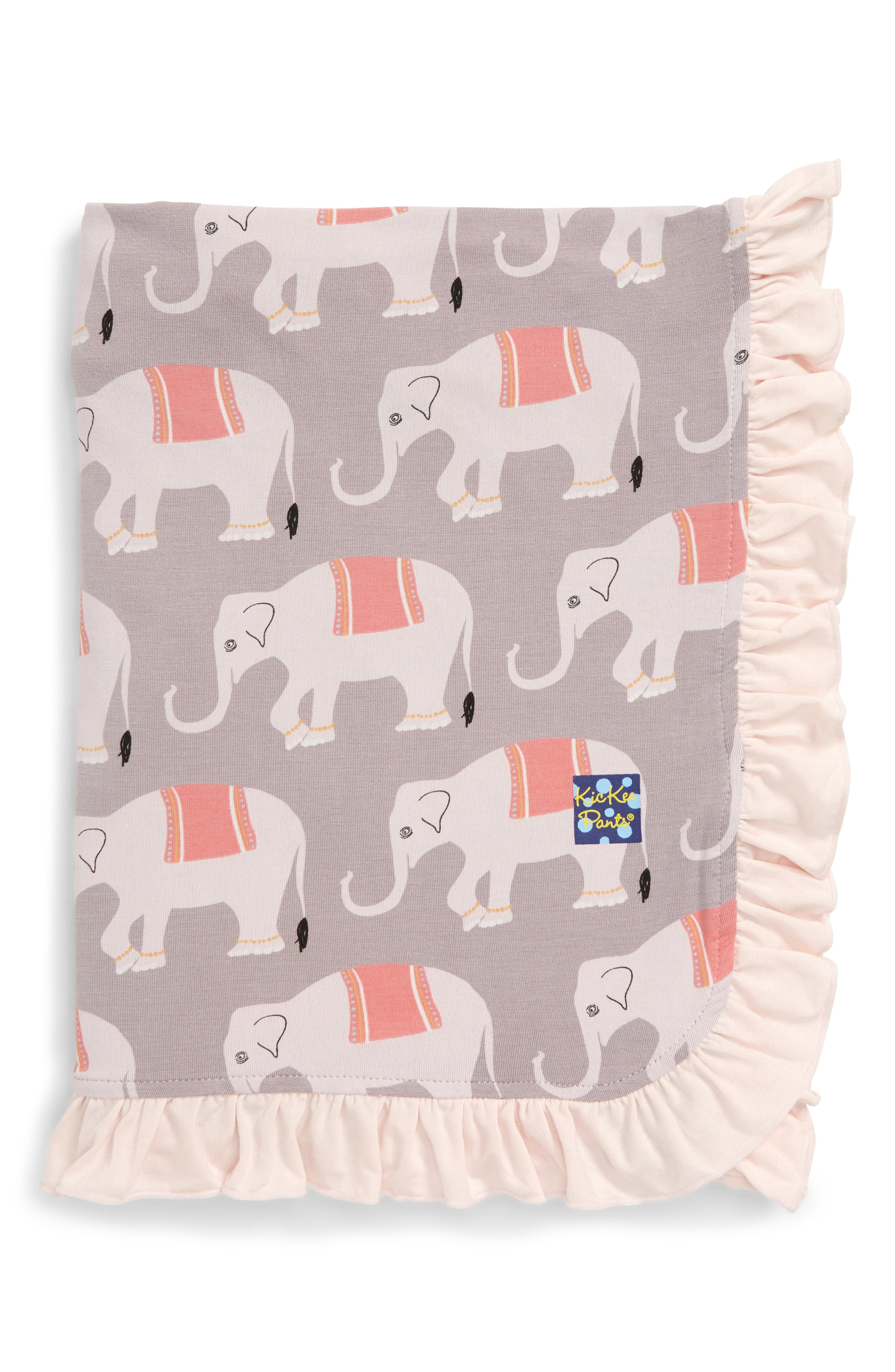 Kickee Pants Elephant Ruffle Stroller Blanket Baby Stroller Blanket Nursery Accessories Baby Crib Bedding