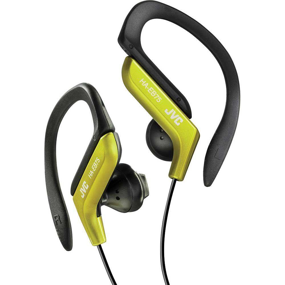 JVC HAEB75Y Sports Ear Clip Headphones Yellow HAEB75