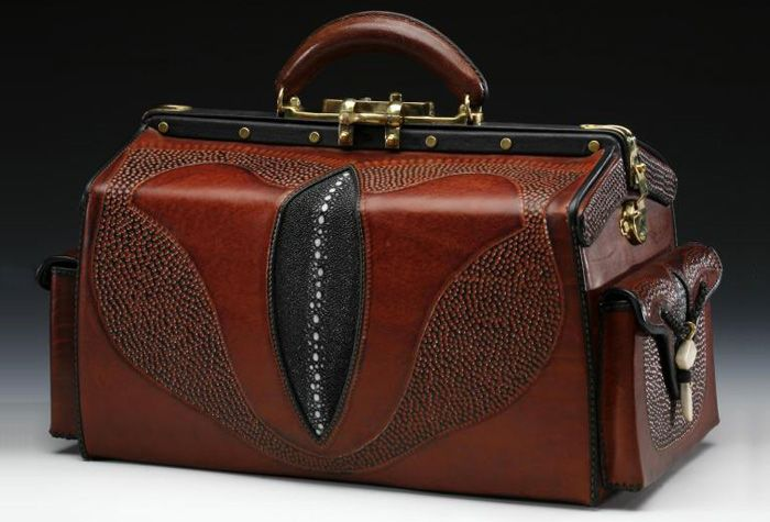 Doctor/'s bag TRISTAN with front pocket brown cow leather BARON of MALTZAHN