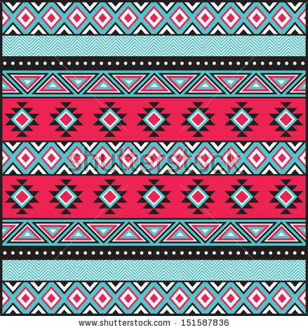 Tribal Print in Teal and PInk by LoudIris, via Shutterstock