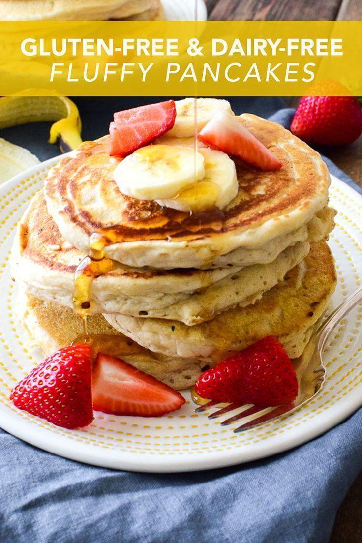 Glutenfree dairyfree fluffy pancakes dairy free