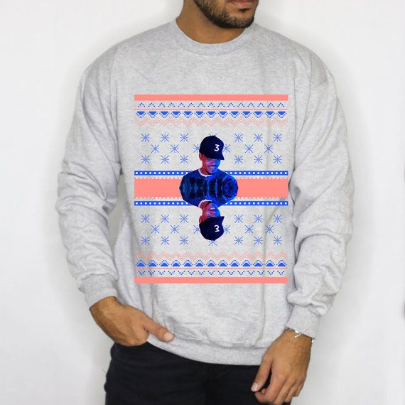 Xmas Sweatshirt Chance The Rapper In Grey By At Scholarsnscoundrels