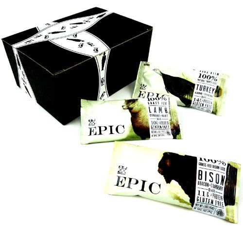 EPIC Bars 3-Flavor Variety: One 1.5 oz EPIC Bison Bar with Uncured Bacon + Cranberry, One 1.3 oz EPIC Lamb Bar... $15.00 #BlackTieMercantile