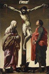 La Crucifixión con la Virgen y San Juan de 1625, por Hendrick ter Brugghen