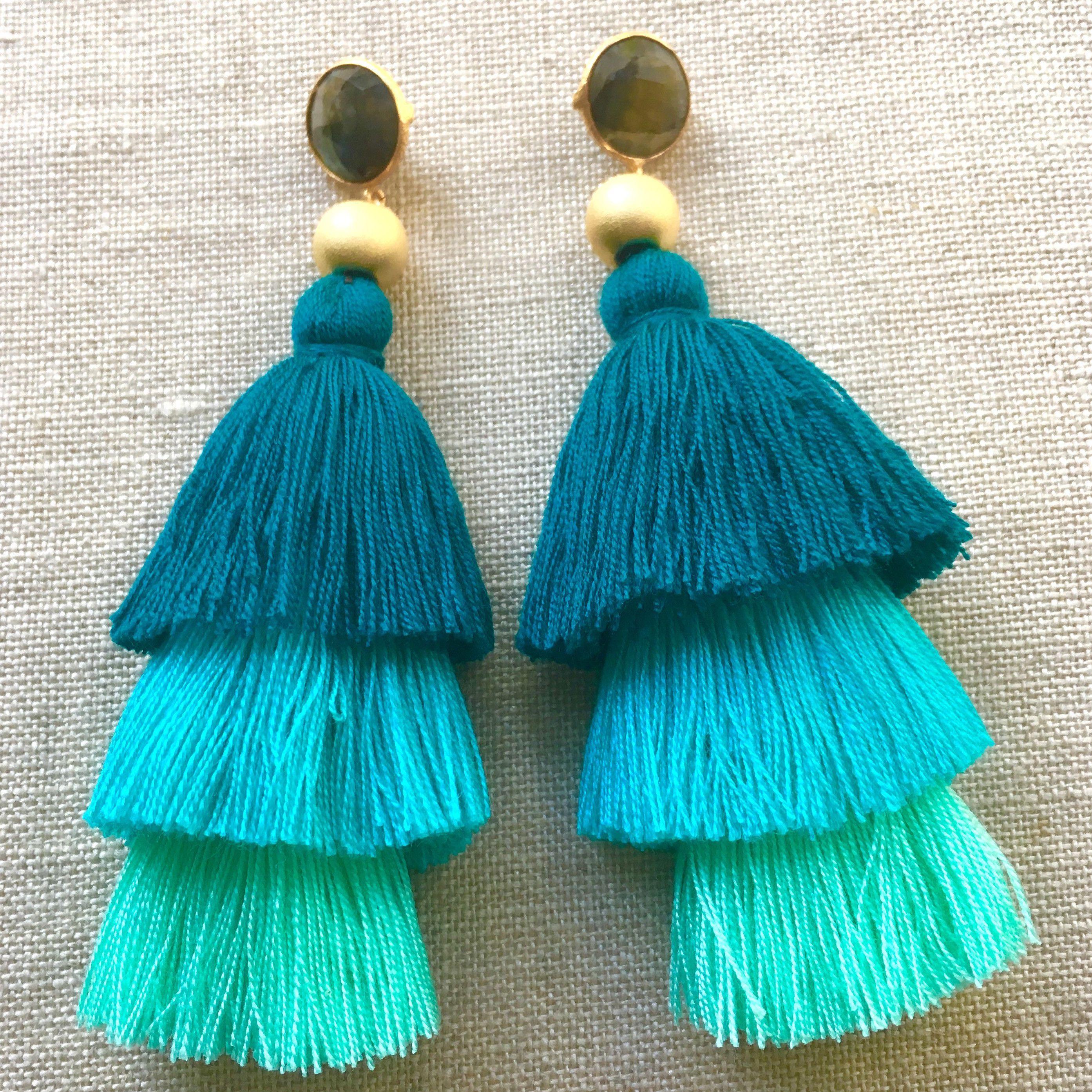 Diy Yarn Tassel Earrings