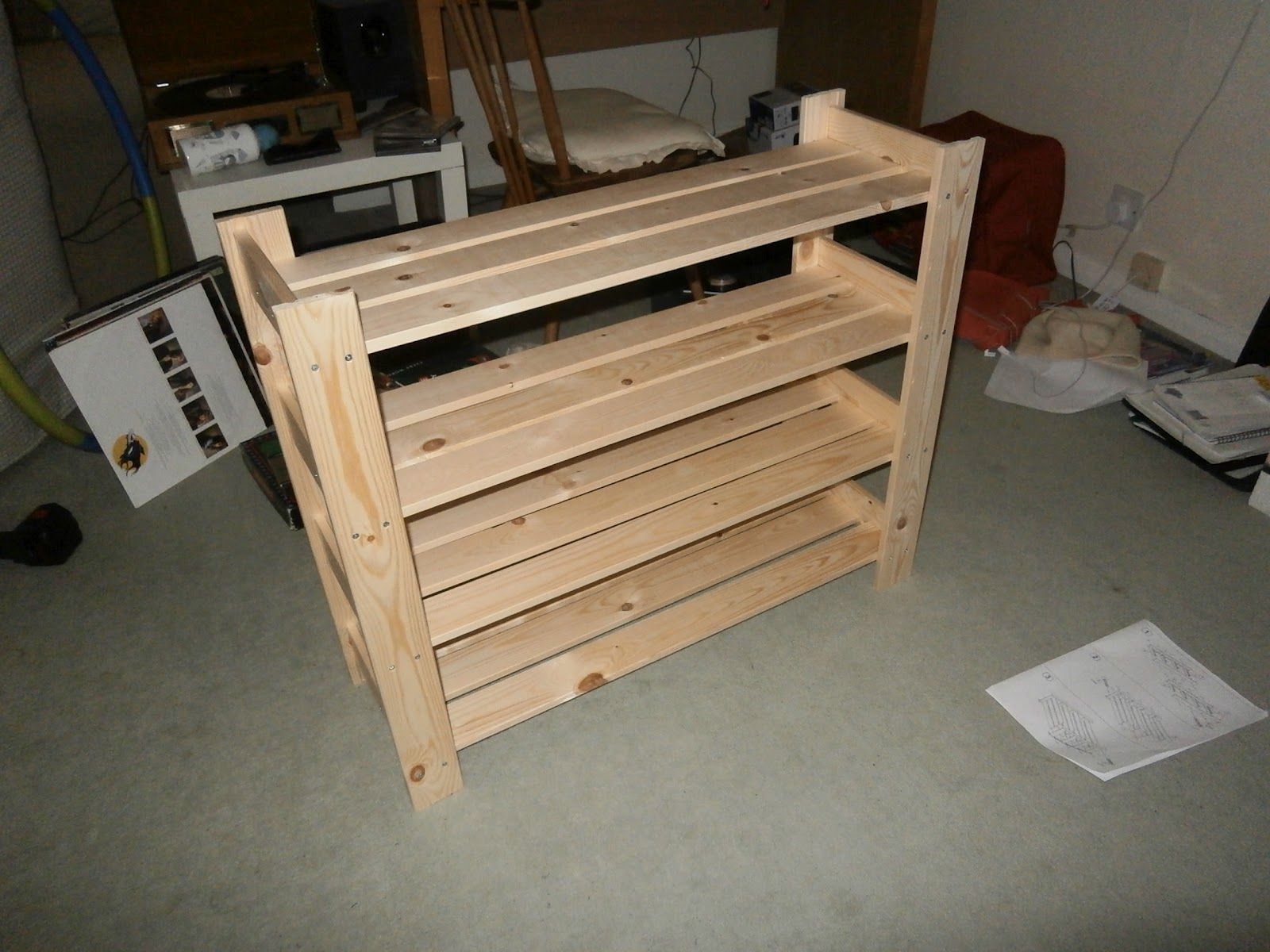 How To Make A Shoe Rack Wood Shoe Cabinet Plans Front Porch Pinterest Shoe Rack