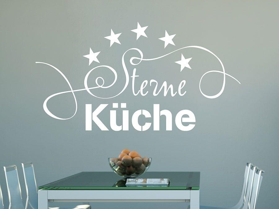 Wandtattoo Sterne Küche - Deko Sterneküche