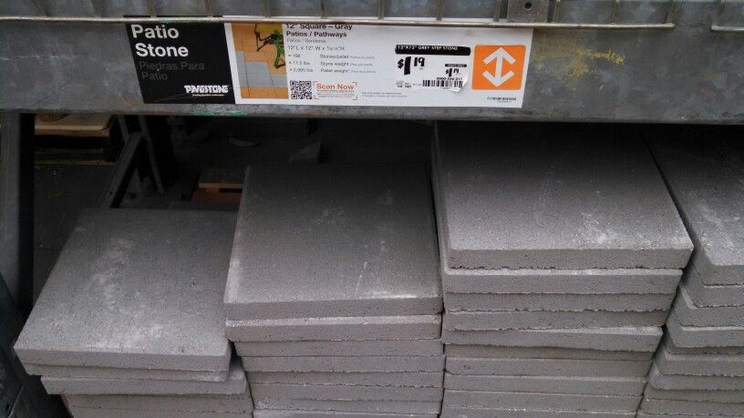 12x12 Concrete Pavers From Home