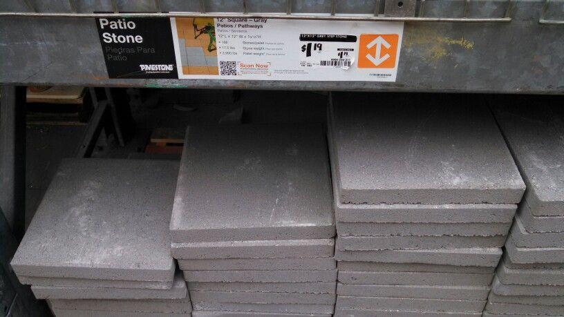 Cheap 12x12 Concrete Pavers From Home Depot Patio Plans Concrete Pavers Patio Upgrade