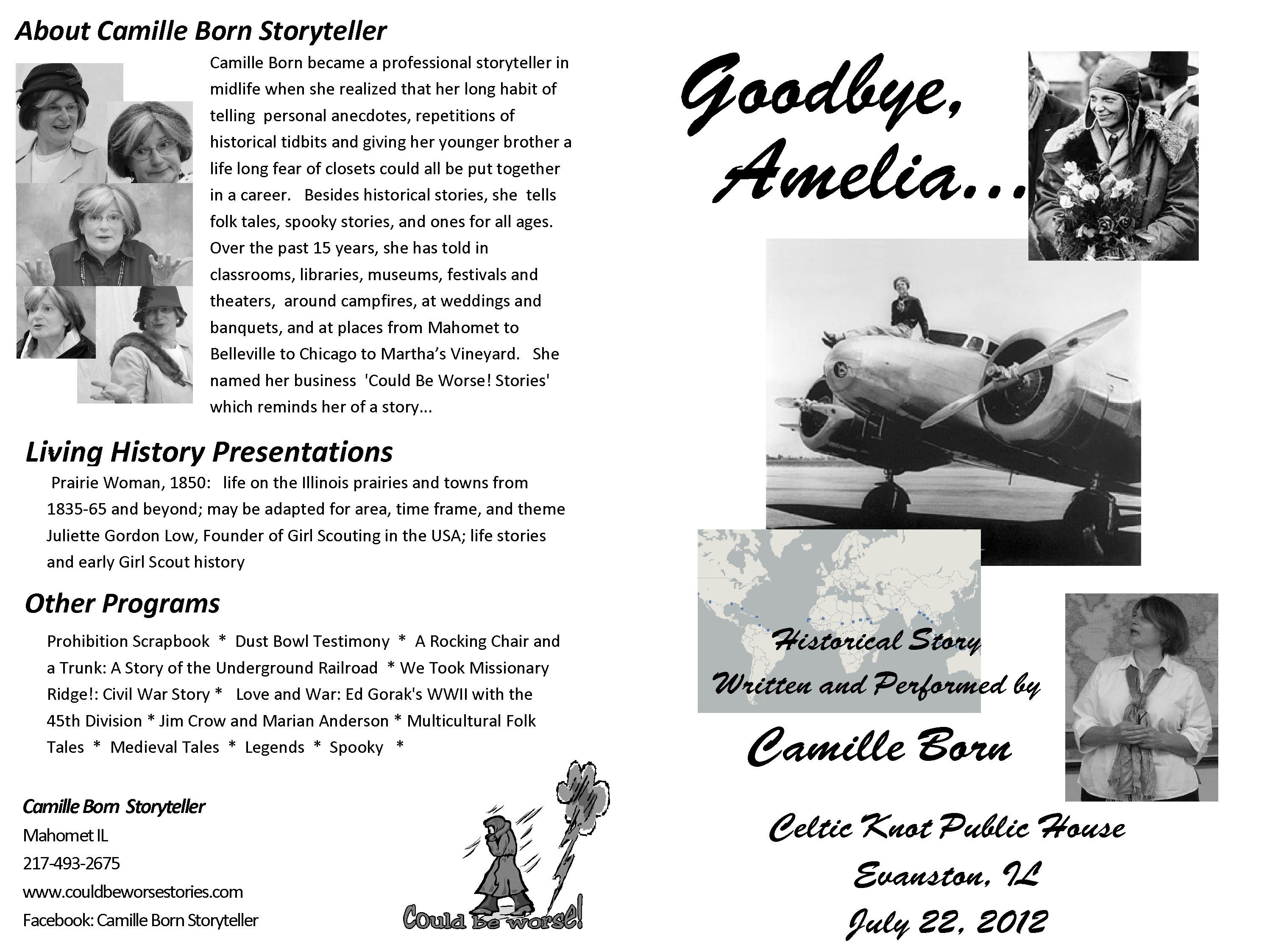 Goodbye Amelia Program For Story Of Life And Times Of