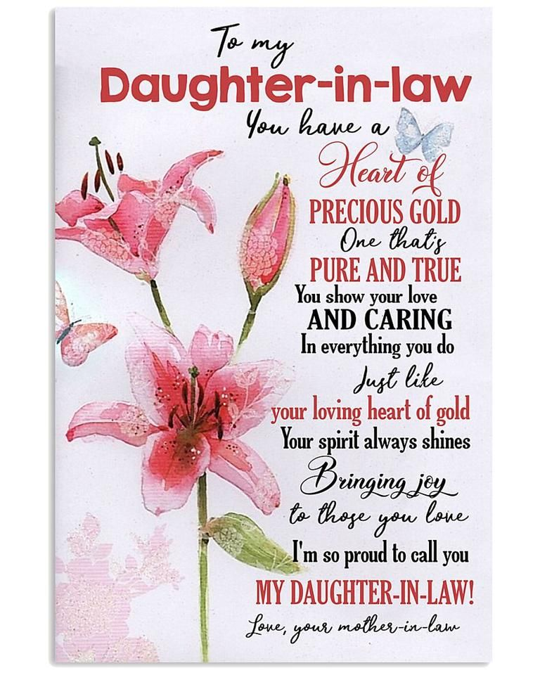 Perfect Gift For Daughter In Law Poster Birthday Quotes For Daughter Law Quotes Daughter In Law Quotes
