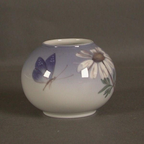 Dänemark. Royal Copenhagen. Vase aus Porzellan. Jugendstil.