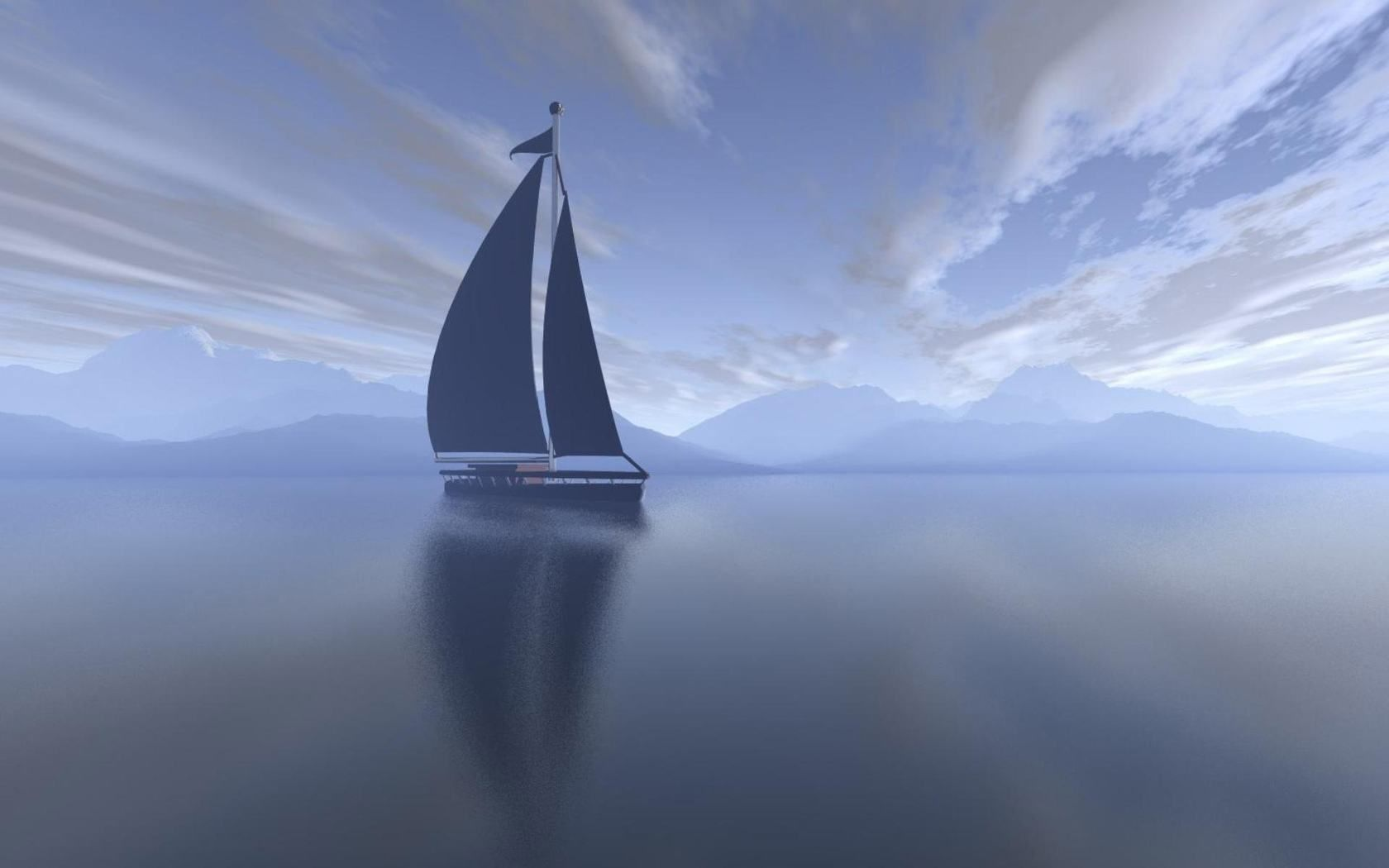 Обои яхта, Пейзаж. Природа foto 10