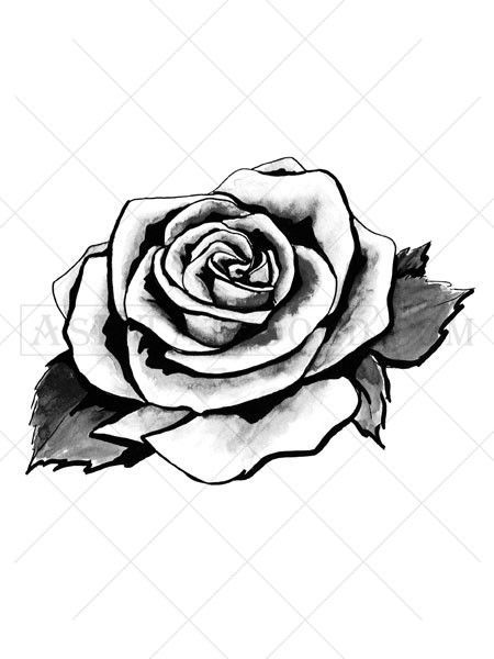 a38e27a7dd70e This beautiful Art Deco style rose tattoo is available as a black tattoo or  a color