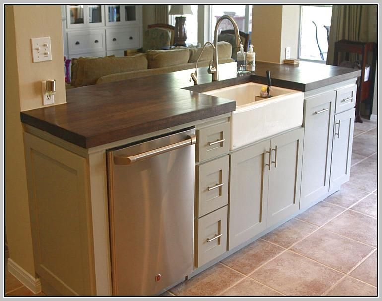Perfect Small Kitchen Island With Sink And Dishwasher Nice Design