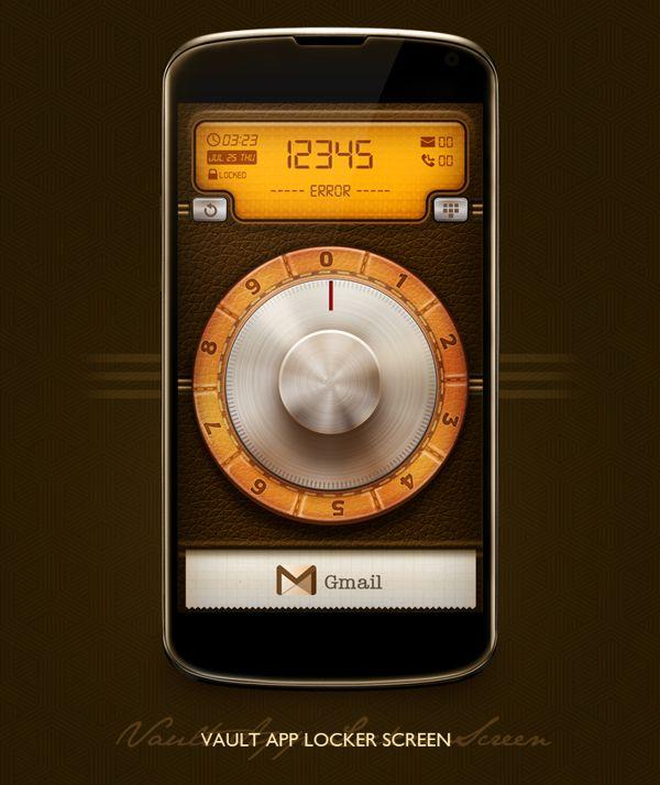 Vault App Locker & Lockscreen (App Design) by Taha Ahmad