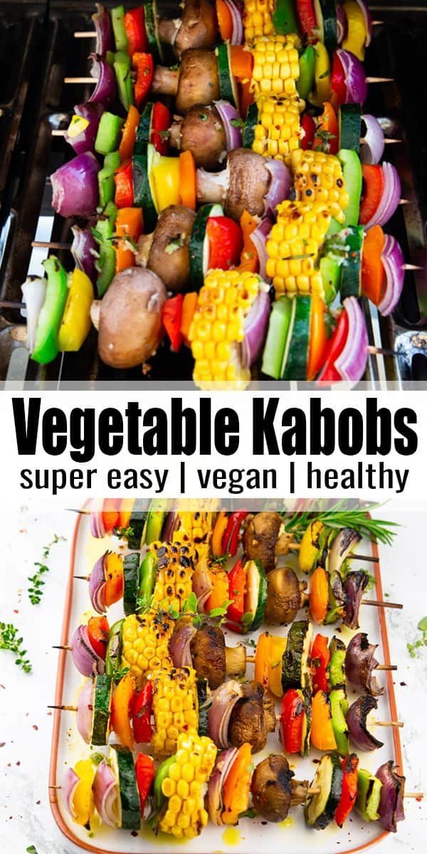 These grilled vegetable kabobs with red onion, bell peppers, zucchini, and corn ... - - Recipe Photo Blog