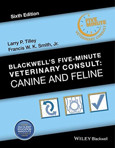 Blackwell S Five Minute Veterinary Consult Canine And Fe Https Www Amazon Co Uk Dp 1118881575 Ref Cm Sw R Pi Dp W Veterinary Blackwell Veterinary Clinic