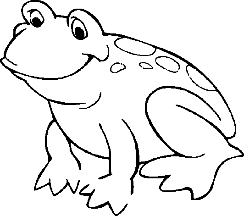 frog coloring pages for kids az coloring pages - Kids Drawing Pages