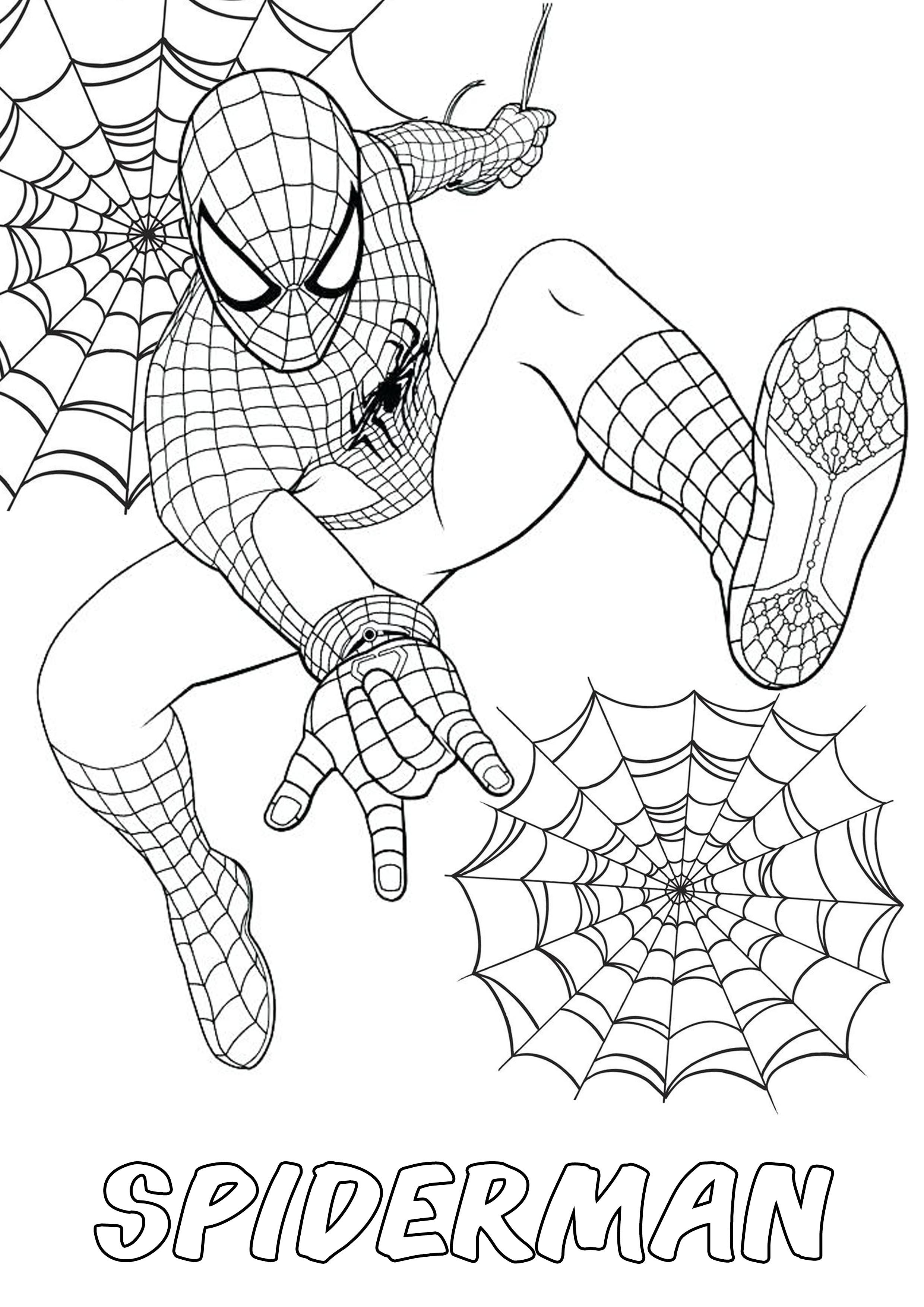 Spiderman Marvel Movies Action Coloring Pages Design Kids Marvel Coloring Coloring Pages Tree Drawing