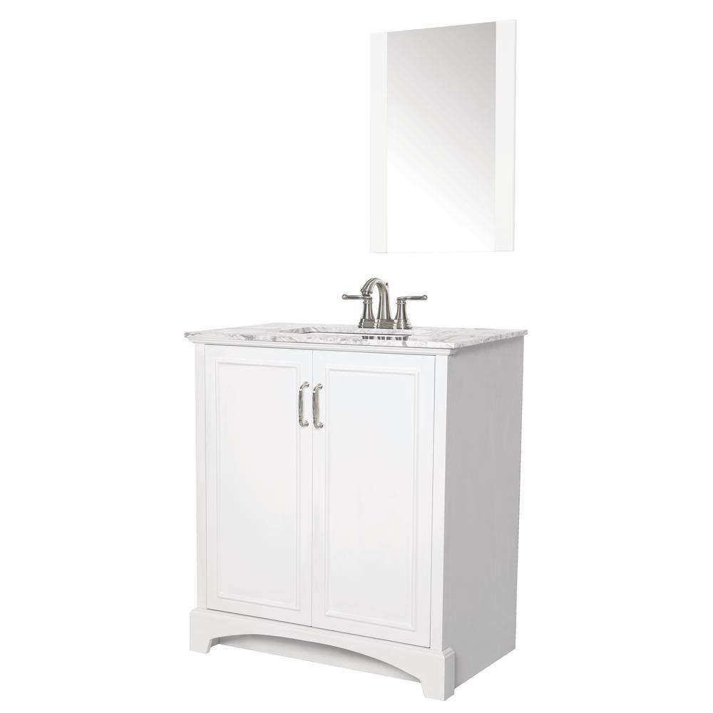 Sheffield Home Madison 30 In W X 19 In D Bath Vanity In White