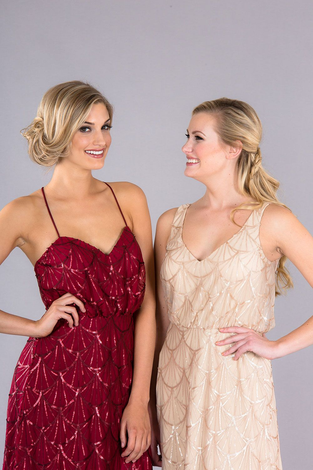 4c144343a41b7 Dazzling sequin bridesmaid dresses that are easy to mix and match ...