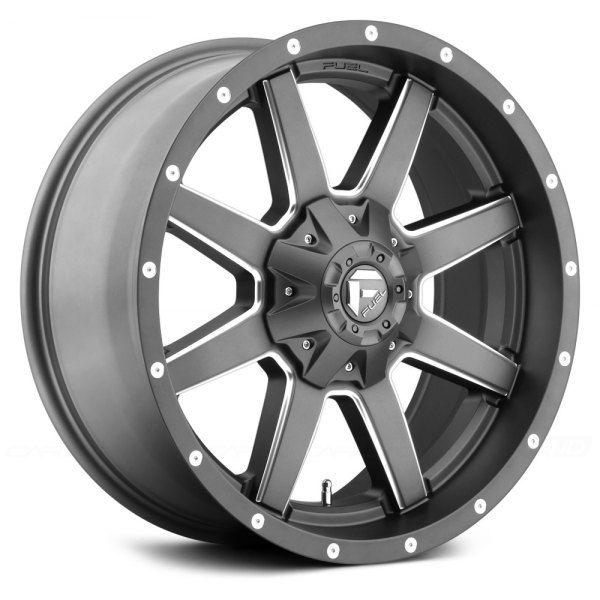 Fuel D542 Maverick 1pc Gunmetal With Milled Accents Fuel Wheels Fuel Offroad Wheels Diesel Trucks