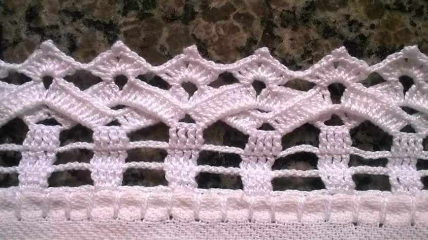 Luty Artes Crochet Barrados Com Graficos Bicos De Croche