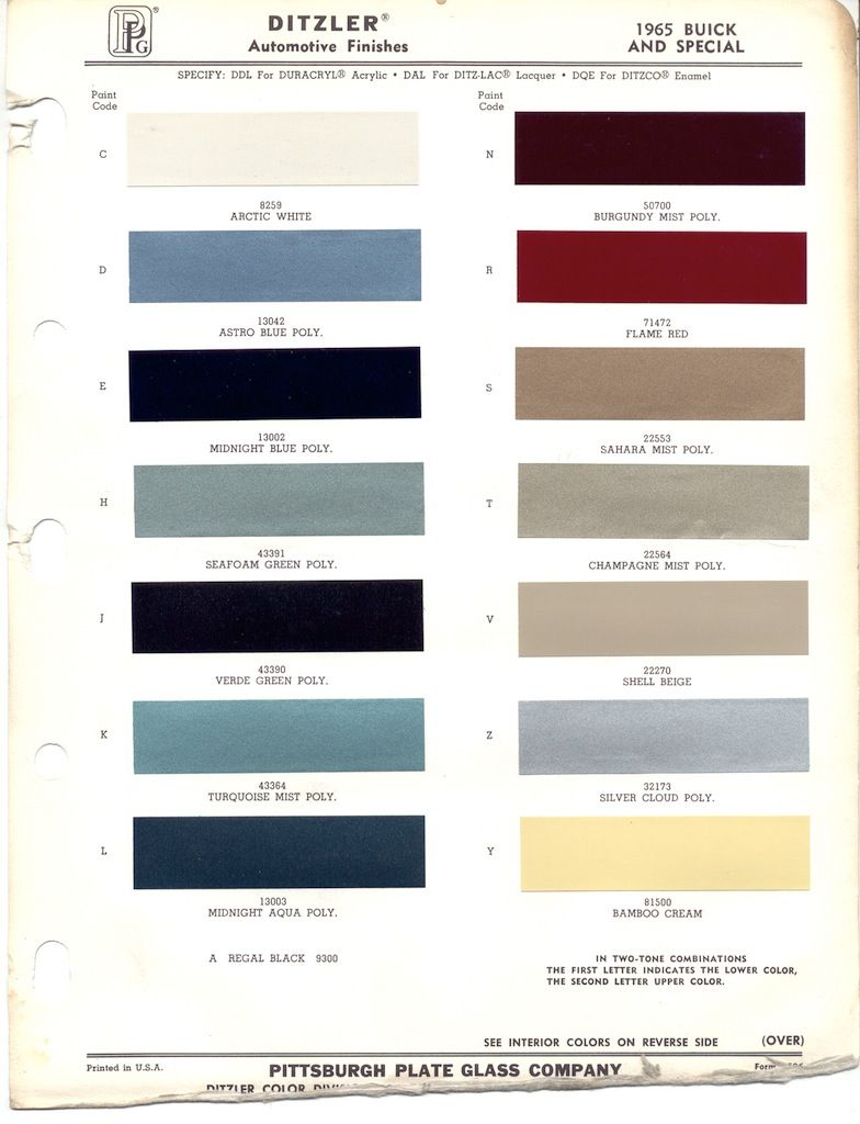 Ppg paint colors 1965 buick google search dads car ppg paint colors 1965 buick google search geenschuldenfo Images