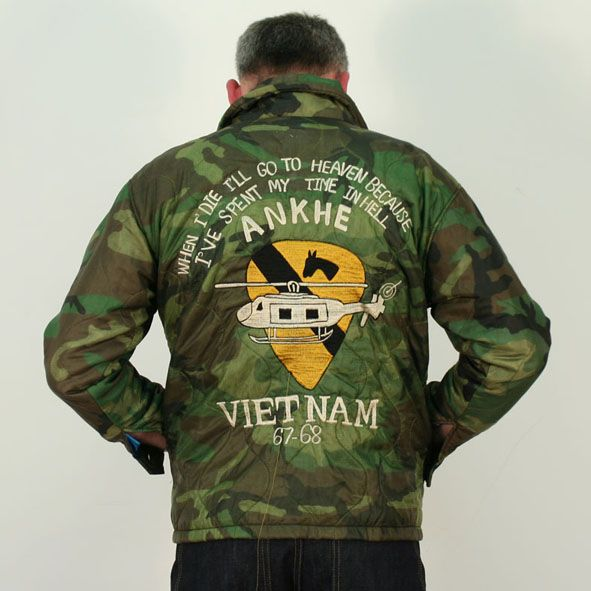 Vietnam 1st Air Cav Tour Jacket Poncho liner Jacket ...