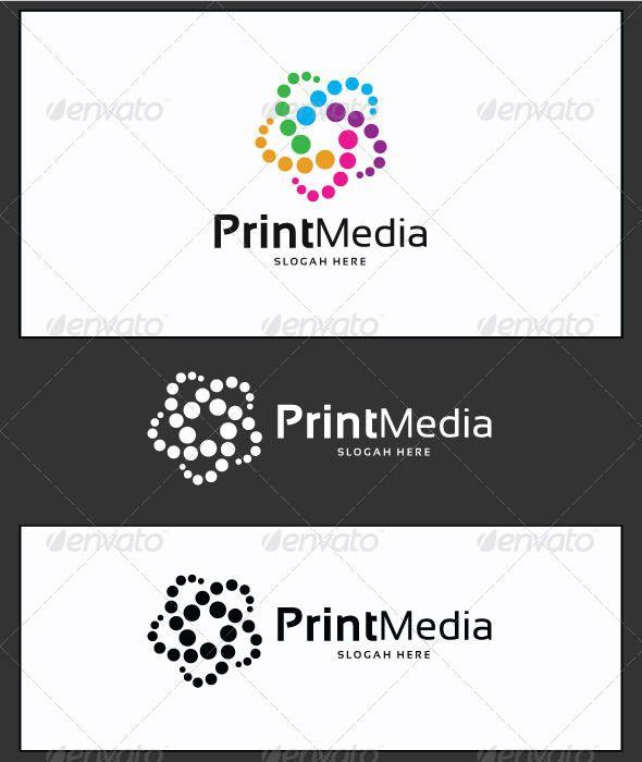 Print media logo template logo pinterest logo templates logos print media logo template maxwellsz
