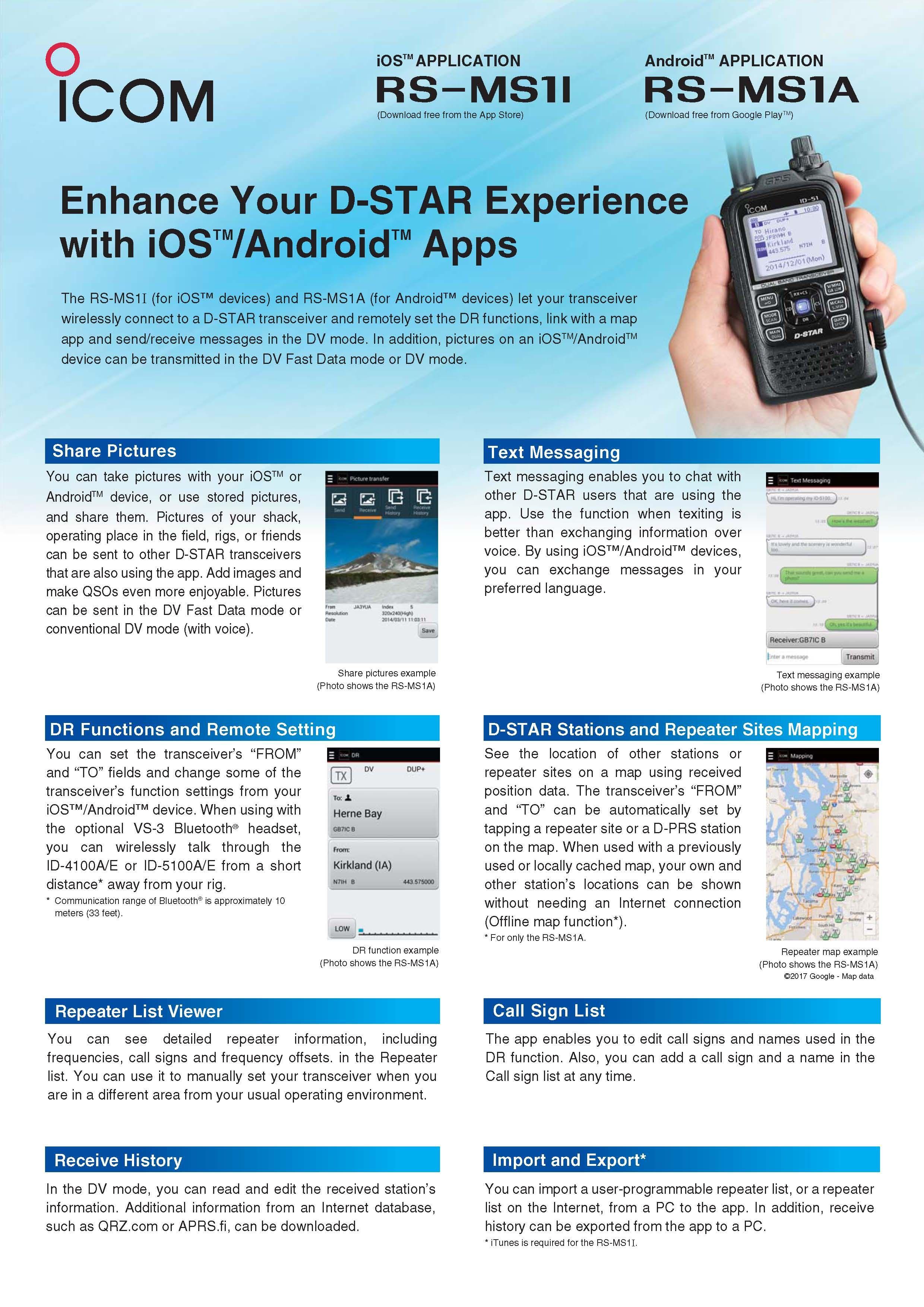 has produced a leaflet for their DSTAR RSMS1A