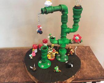 Lampara De Tubo Impresionante Super Mario Green Por Lsemporium Pvc