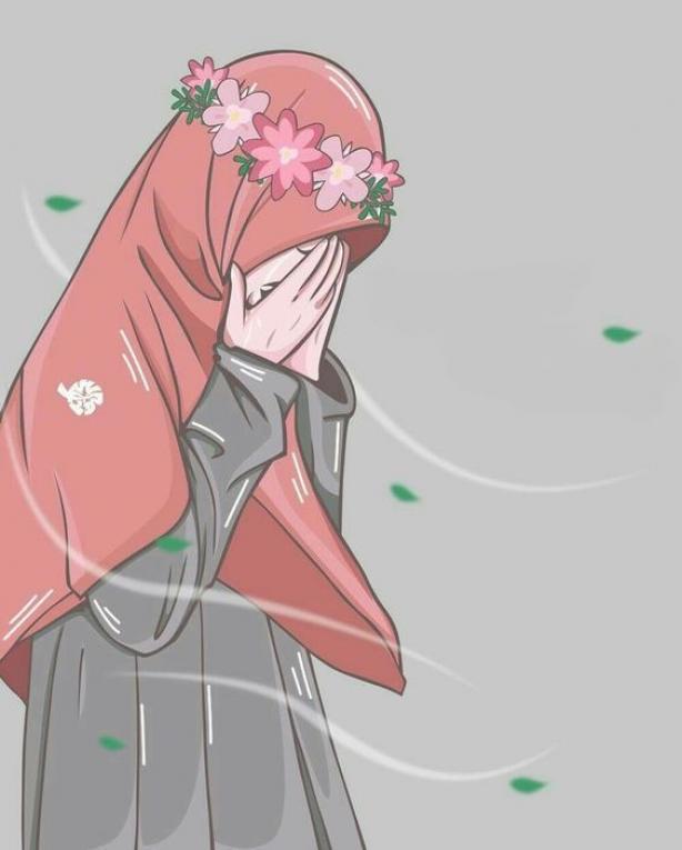 ? 150 Gambar Kartun Muslimah Berkacamata Cantik Sedih