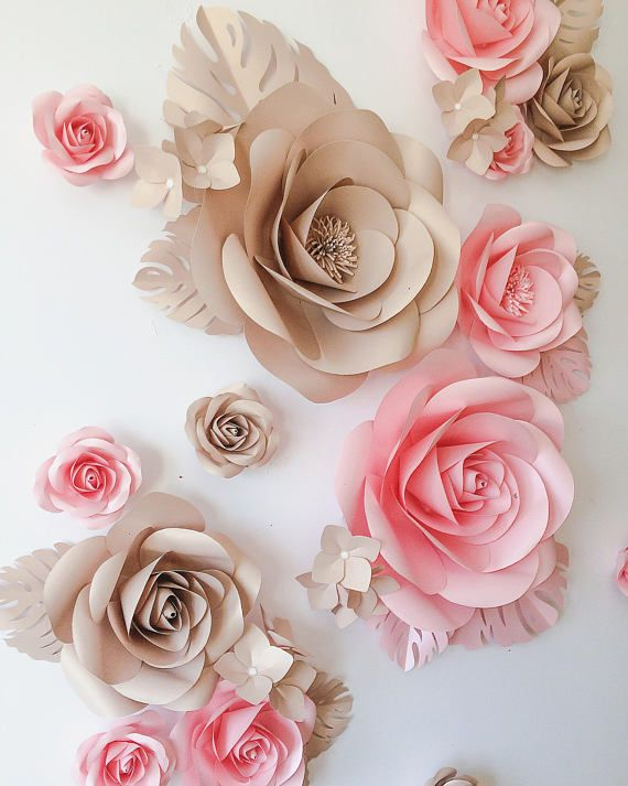 Paper flowers decoration wall decor large pinterest and also rh