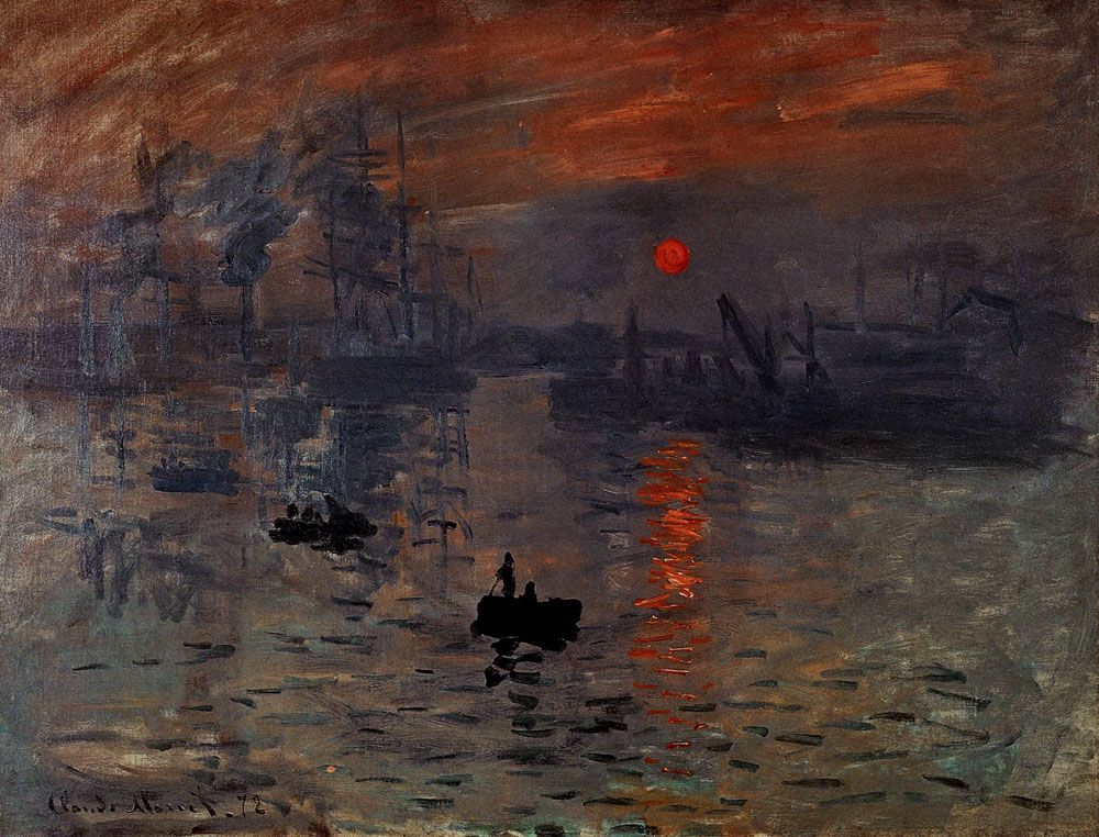 l impressionnisme claude monet impression soleil levant 1872