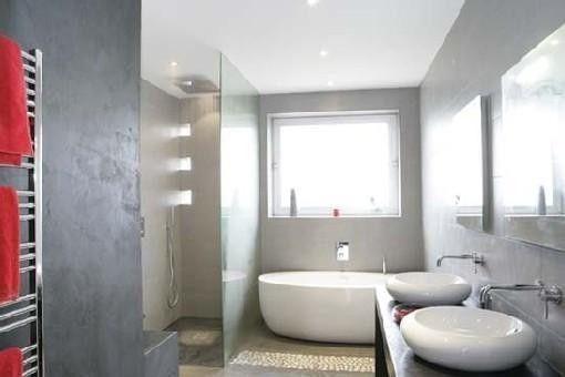 Salle de bains avec douche l 39 italienne 16m2 douches for Badezimmer 16m2