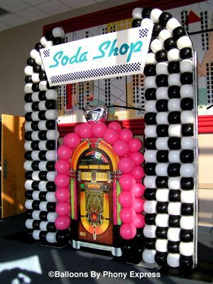 juke box decoration | Soda Shop with Juke Box creates a focal point for the lobby & juke box decoration | Soda Shop with Juke Box creates a focal point ...