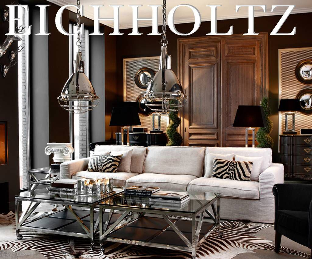 Klassieke Glazen Salontafels.Eichholtz Showroom Table Prado Deze Roestvrijstalen