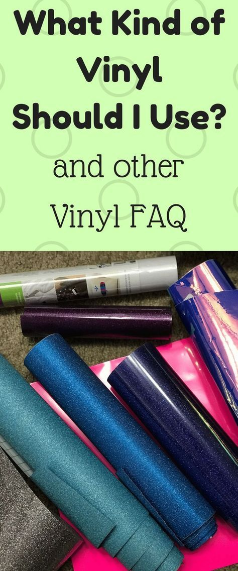 What Kind of Vinyl Should You Use? #cricutvinylprojects