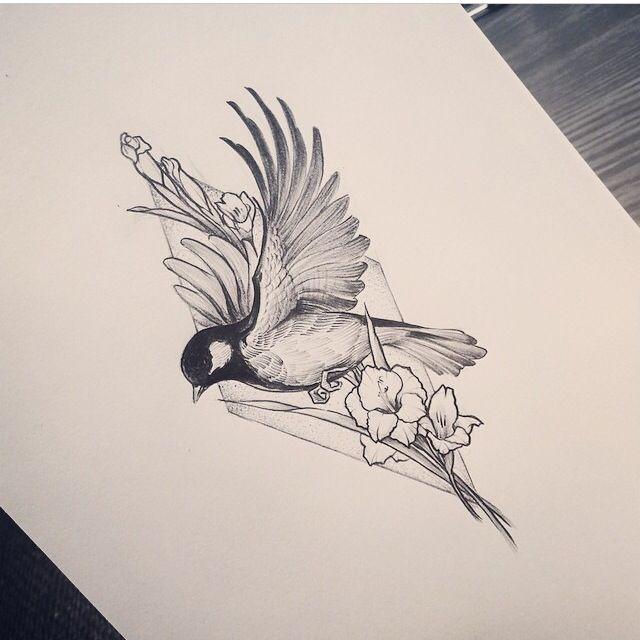 Sparrow Tatoo Passaros Coisas Para Desenhar Tatuagens Belas