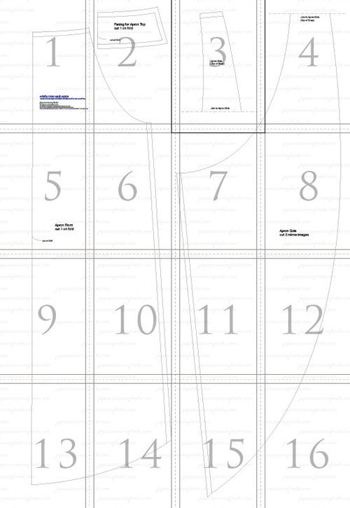 adultpatternsequence-free criss cross apron smock sewing pattern ...